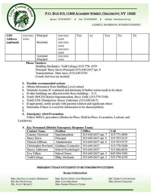 District Wide Safety Plan Page 2
